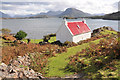 NG7855 : Cottage and Loch Shieldaig : Week 40