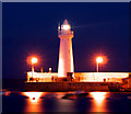 J5980 : Donaghadee Lighthouse at night by Rossographer