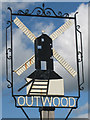 TQ3245 : Outwood village sign : Week 40