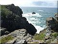 SW6911 : Rocks off Lizard Point by Jeremy Bolwell