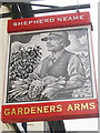 TQ7171 : Gardeners Arms sign by Oast House Archive