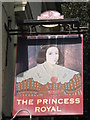 TR2335 : The Princess Royal, Pub Sign, Folkestone by David Anstiss