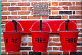 TG0939 : Fire Buckets, Holt Station, Norfolk by Christine Matthews