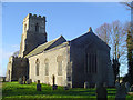 TM1577 : Oakley St Nicholas the Great�s church by Adrian S Pye