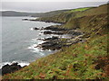 SW7924 : Coast to the north of Porthallow by Philip Halling