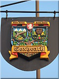 TQ7451 : Coxheath Village Sign by David Anstiss