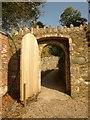 SX8754 : Doorway, walled gardens, Greenway : Week 41