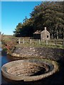SK2685 : Derelict pumping house and conduit bellmouth hole north of Redmires reservoirs by Neil Theasby