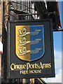 TQ8209 : Cinque Ports Arms sign by Oast House Archive