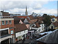 TL9924 : Looking down on St John's Street Colchester by PAUL FARMER