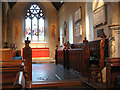 TQ3461 : All Saints church, sanderstead: chancel  by Stephen Craven