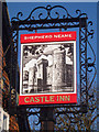 TQ7825 : Castle Inn sign by Oast House Archive