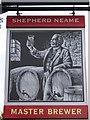 TR2137 : The Master Brewer, Pub Sign, Broadmead Village by David Anstiss