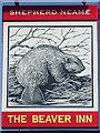 TR0041 : The Beaver Inn sign by Oast House Archive