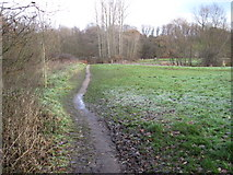 SJ8985 : Footpath towards Lady Brook, Bramhall by Chris Wimbush