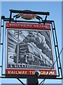 TQ3573 : Railway Telegraph Pub Sign, Forest Hill by David Anstiss