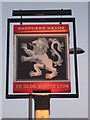 TQ4364 : Ye Old Whyte Lion, Pub Sign, Locksbottom by David Anstiss