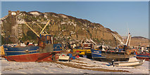 TQ8209 : Fishing Boats and snow by Oast House Archive