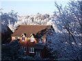 SP2972 : Frost in Greensward Close by John Brightley