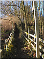 SD7314 : Footpath to Hazelhurst Wood by David Dixon
