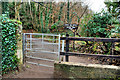 J3369 : Gate, Belvoir forest, Belfast by Albert Bridge