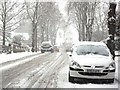 SP2871 : Priory Road in the snow by John Brightley