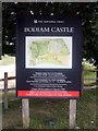 TQ7825 : Bodiam Castle, Tourist Information Board by Helmut Zozmann