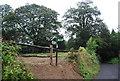 TQ6741 : High Weald Landscape Trail sign, Fairman's Lane by N Chadwick