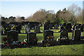 SP1676 : Headstones, Widney Manor Cemetery: 1 by Robin Stott