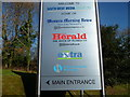 SX4959 : Plymouth : Derriford - Western Morning News Sign by Lewis Clarke