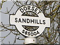 ST5800 : Sandhills: detail of more westerly finger-post by Chris Downer