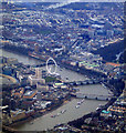 TQ3080 : The London Eye and Westminster from the air : Week 4