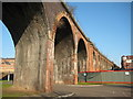 SO8455 : Railway viaduct in Worcester : Week 4