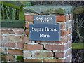 SJ8180 : Gate post at Sugar Brook, Paddockhill by Anthony O'Neil
