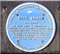 Photo of River Roch and Roch Bridge blue plaque