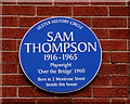 Photo of Sam Thompson blue plaque