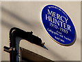 Photo of Mercy Hunter blue plaque