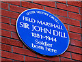 Photo of John Dill blue plaque