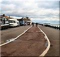 TQ2804 : Cycle Lane, Hove Seafront by Paul Gillett