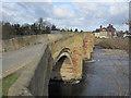 SJ3845 : Old bridge across the Afon Dyfrdwy/River Dee by John S Turner
