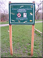 TQ2267 : Sir Joseph Hood Memorial Playing Field Notice Board by Adrian Cable