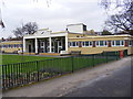 TQ2267 : Pavilion at Sir Joseph Hood Memorial Playing Field by Adrian Cable