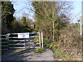 TM2650 : Bridleway off the A1152 Woods Lane by Adrian Cable