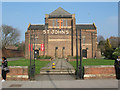 TQ3871 : St John's church - signage by Stephen Craven