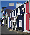 SN4562 : The painter and his dog, Aberaeron by Dave Croker