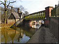 SJ7699 : Bridgewater Canal, Parrin Bridge by David Dixon
