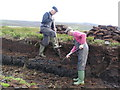 HY3705 : Cutting peat on Veness by Derek Mayes