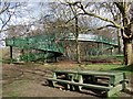 TQ3774 : Railway footbridge, Ladywell Fields by Derek Harper