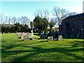 SJ8075 : Graveyard at Marthall parish church by Anthony O'Neil