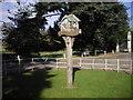 TL1344 : Village sign: Old Warden by PAUL FARMER